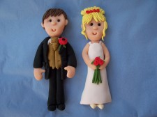 Roses Bride and Groom Card Topper