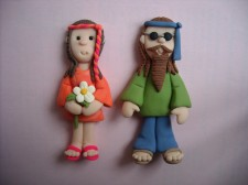 Flower Power 'Hippy' Couple