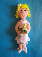 Flower Girl Card Topper