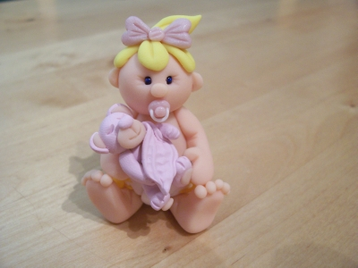 Cake Decorations Uk Baby : Baby Girl With Teddy & Blankie Cake Topper Shop Online ...