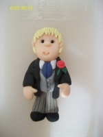 Blonde pageboy