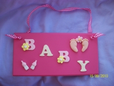Baby Girl Pink Plaque