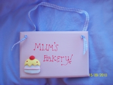Mum's Bakery Plaque