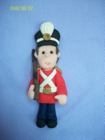 Little Nutcracker Soldier Card Topper