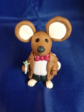 Hershey Mouse dressed as The 11th Dr Who