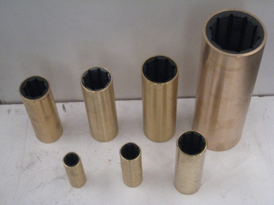 Water lubricated shaft bearings