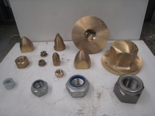 Various propeller and coupling nuts