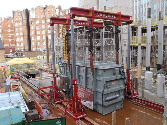 86,000kg Mega Lift Transformer Installation