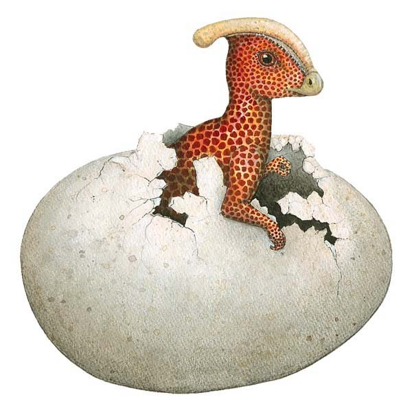 Dinosaur Egg Sticker
