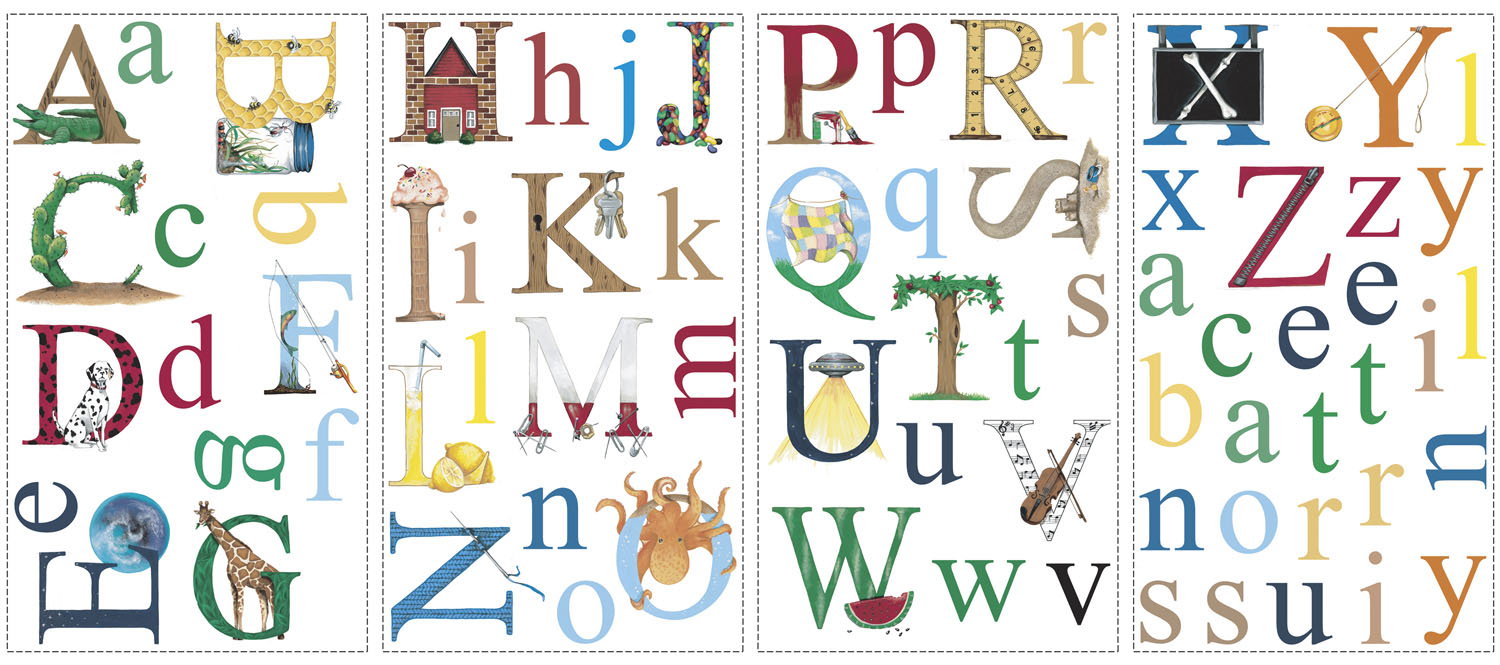 Alphabet art stickers