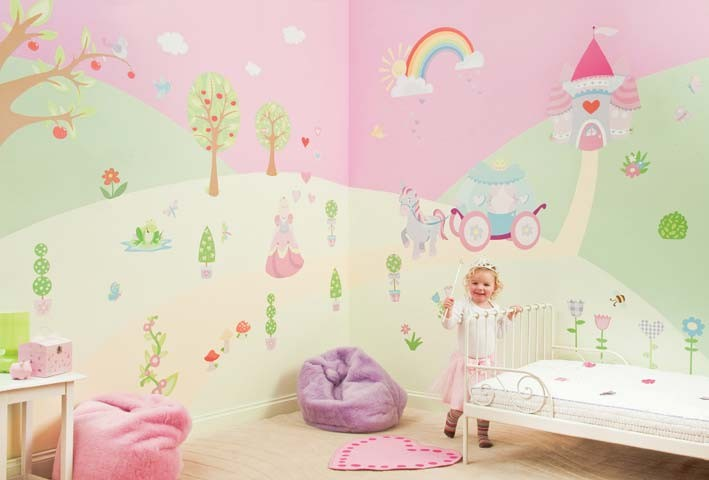 Fairy Themes For Little Girls Bedrooms Fairy Themed Wallpaper Fun