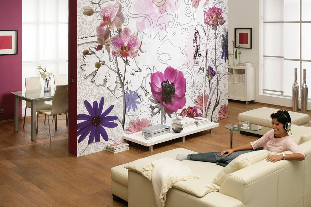 Photo Wall Mural - Purple