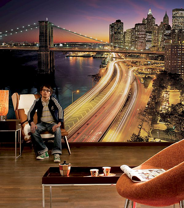 New York City Lights Wall Mural