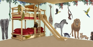 Jungle wall sticker set