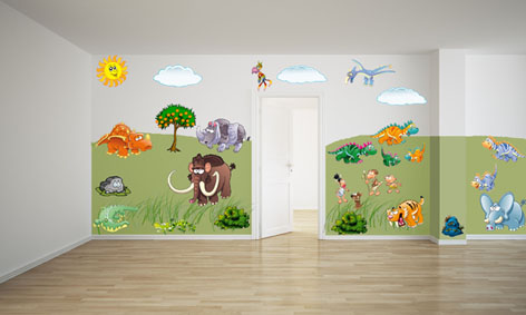 Dozy Dinosaur wall stickers