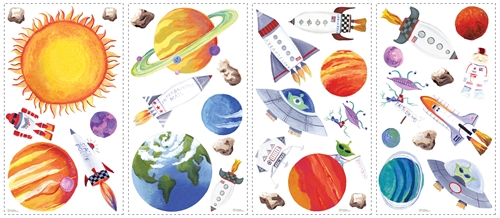 RMK-1316SCS Outer Space wall stickers
