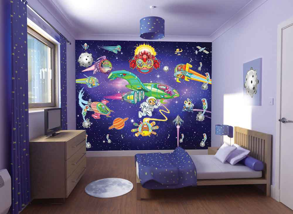 W-Alien-Adventure Walltastic Alien Adventure Wallpaper Mural