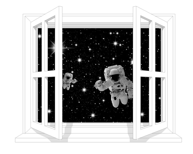 Astronaut at the window