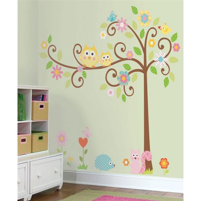 RMK1439SLM Scroll Tree Wall Sticker