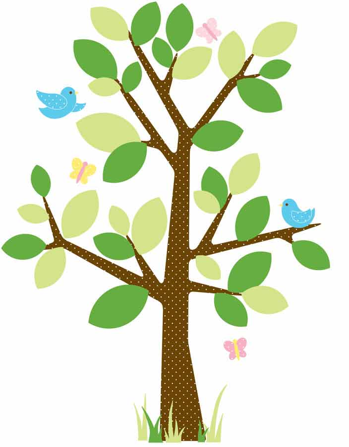RMK1554GM Tree Wall Sticker