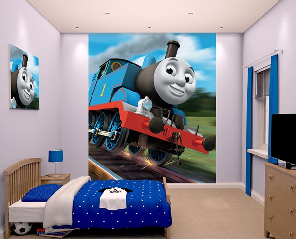 W-Thomas Thomas the tank wallpaper mural