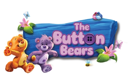 Button bears mural childrens wallpaper fun decor for Belly button bears wall mural