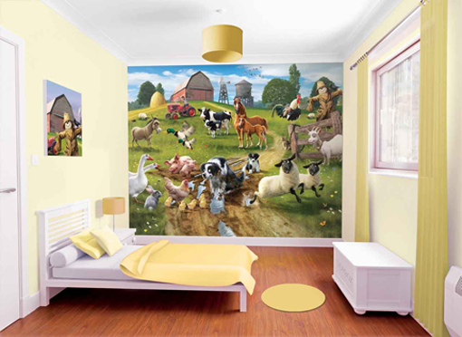 Walltastic farmyard Fun wallpaper mural for kids
