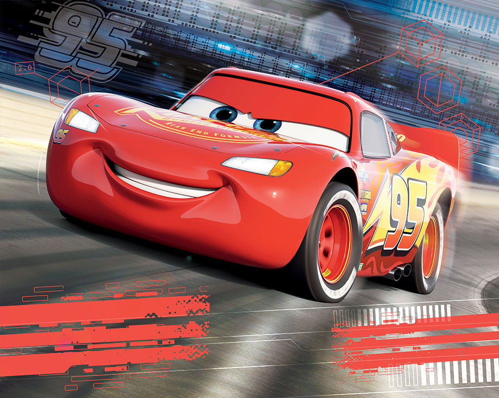 Walltastic disney cars mural childrens wallpaper fun decor for Disney car bedroom ideas