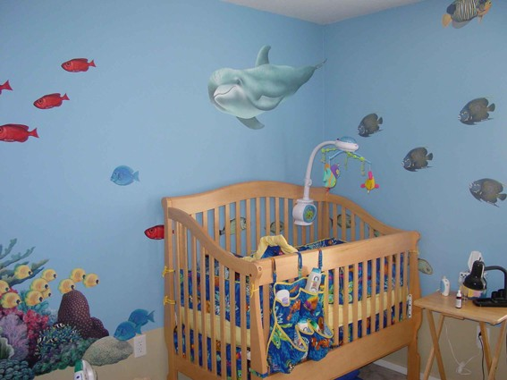 Wall mural stickers