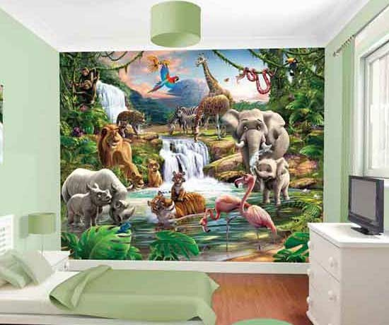 Childrens Jungle Adventure Mural
