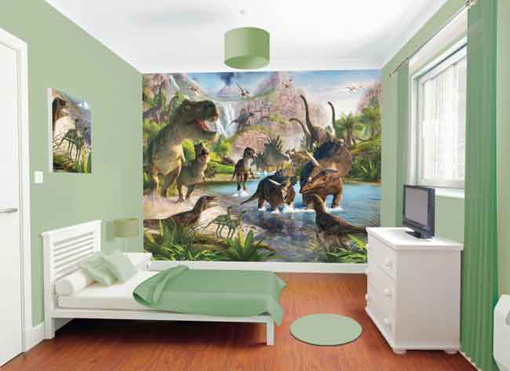 Remarkable Dinosaur Bedroom Decoration Ideas Dinosaur Wallpaper Home Remodeling Inspirations Genioncuboardxyz