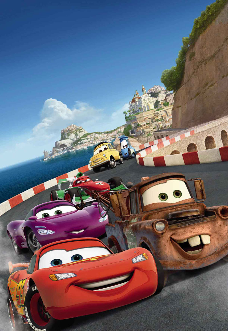 Disney cars wallpaper murals disney wallpaper murals for Disney cars mural uk