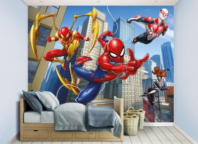 W-Spiderman-Mural  Spiderman Wallpaper Mural