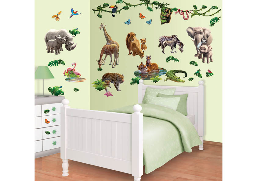 WS-JungleAdventure Jungle Adventure Room Decor Kit - Walltastic