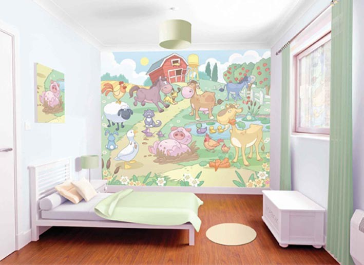 Baby Farmyard Wallpaper