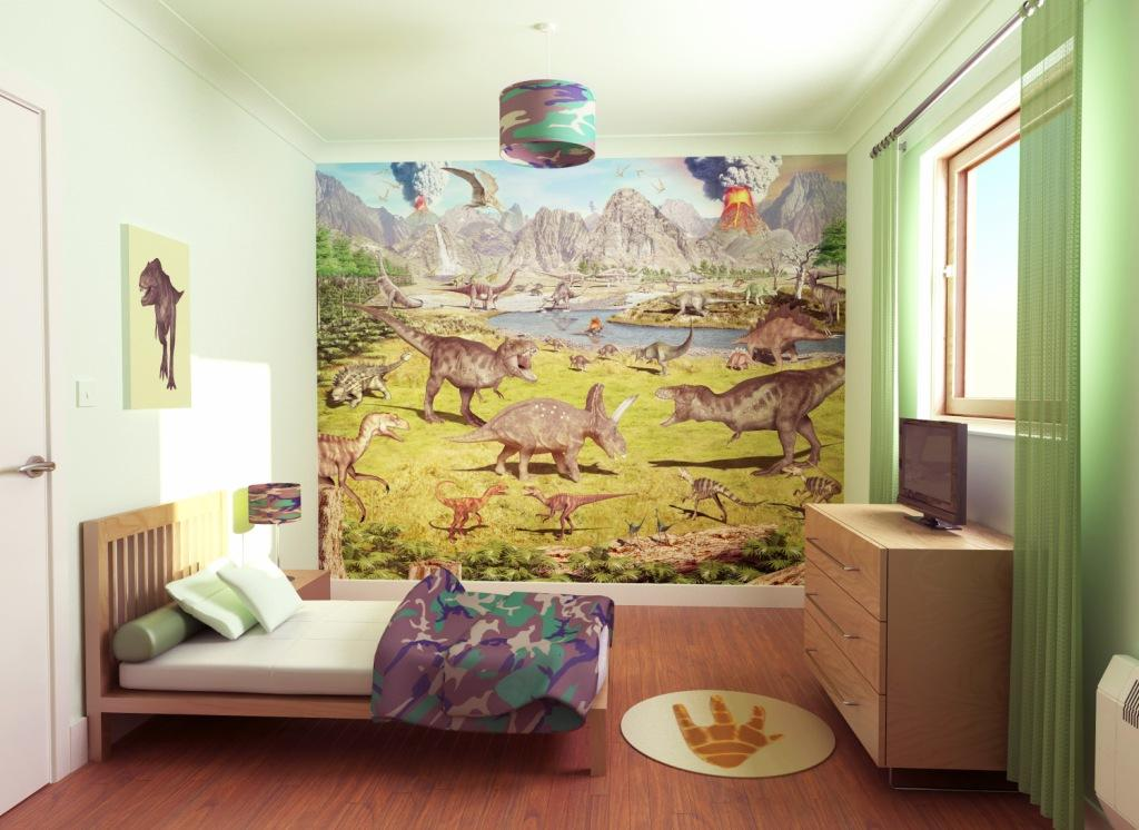 Dinosaur Land Wallpaper Mural Dinosaur Theme Shop Fun Decor