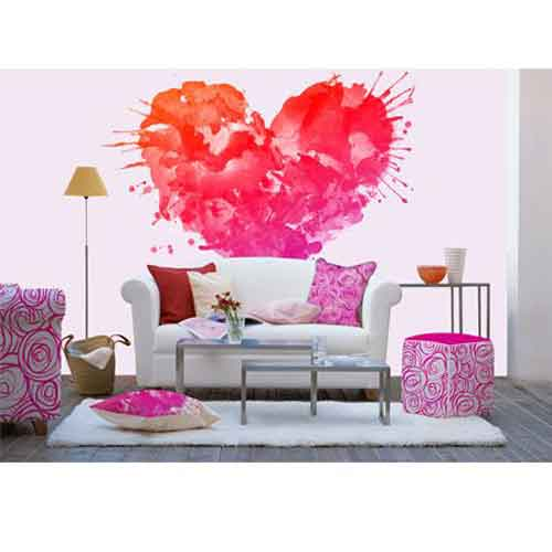 DT-LoveHeart Love Heart Wallpaper Mural