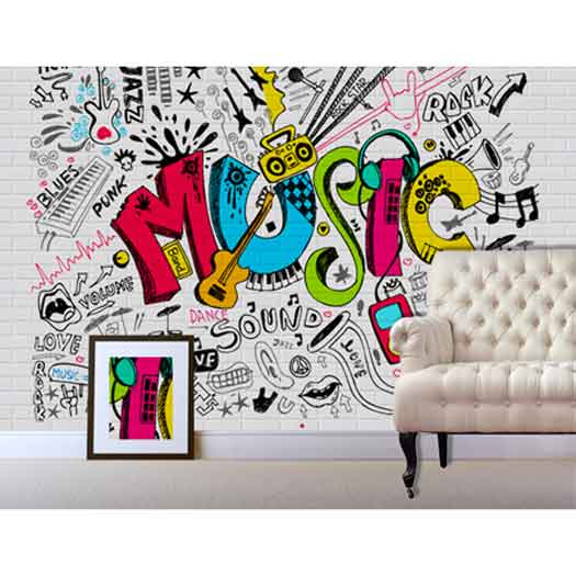 music wallpaper mural teenagers decor fun decor music abstract wall mural music abstract wallpaper