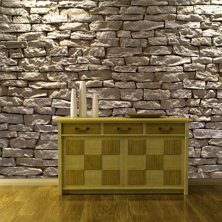 Natural stone wallpaper mural teenagers decor fun decor for 3d stone wallpaper for walls