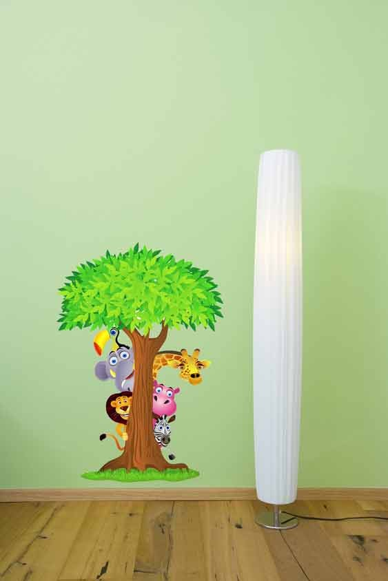 FD-PeekAboo  Safari Peek-A-Boo Wall sticker