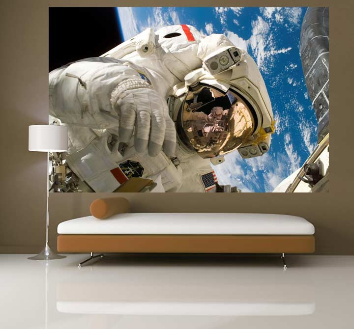 Astronaut self adhesive wallpaper mural