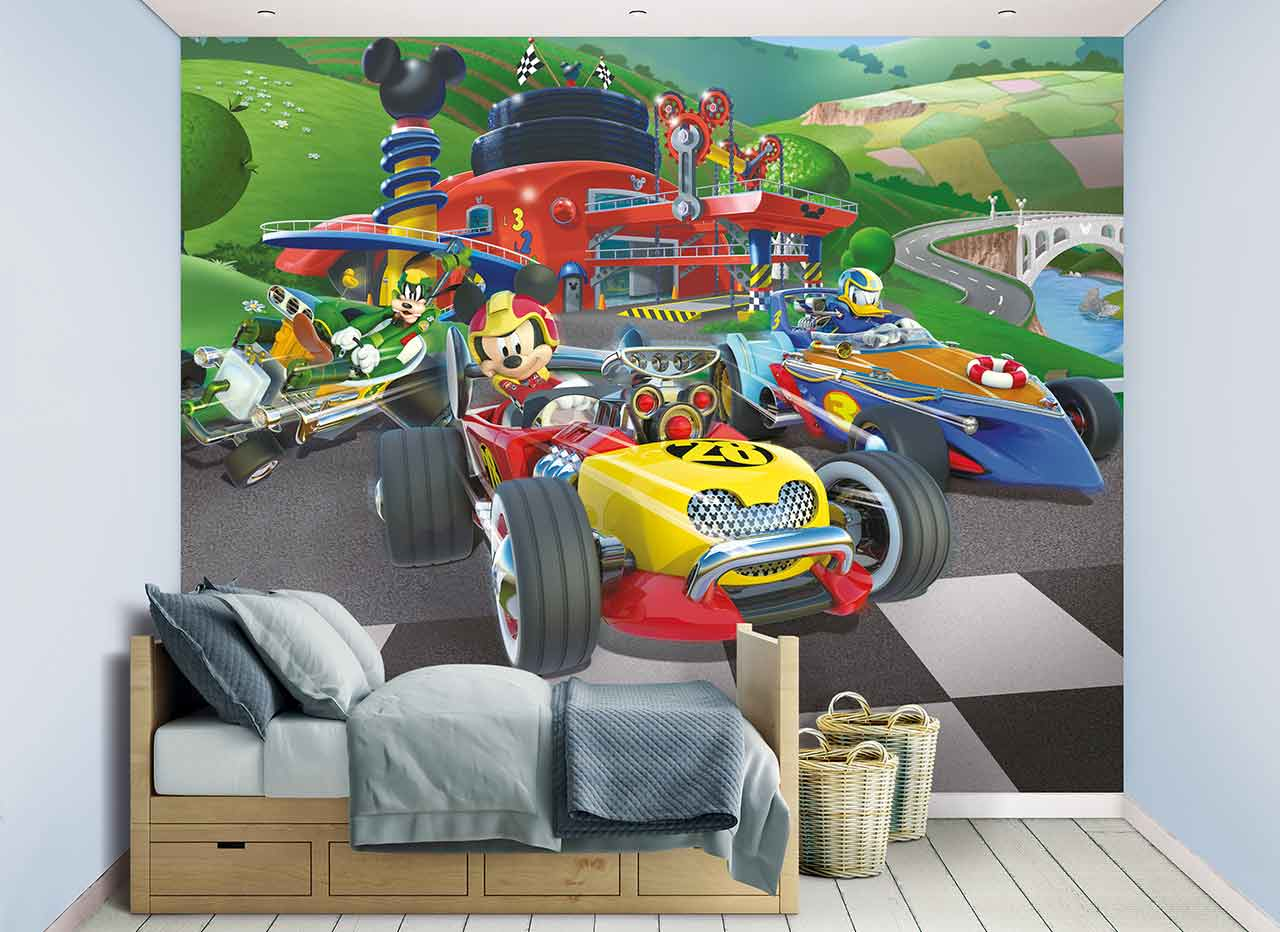 W-MickeyMouse Walltastic Mickey The Mouse Wallpaper