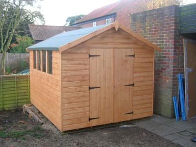 10 x 8 heavy duty shiplap apex felt tiles shed centre. Black Bedroom Furniture Sets. Home Design Ideas