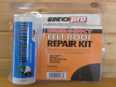 Pitched roof insulation: Felt roof repair kit