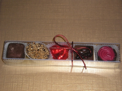BC14 BOX OF 5 LUXURY BELGIAN CHOCOLATES
