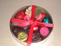 ROUND BOX OF LUXURY BELGIAN CHOCOLATES