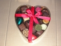 LARGE HEART SHAPED BOX OF LUXURY BELGIAN CHOCOLATES