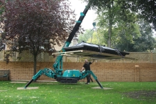 Using a Mini crawler crane this 800 kg Gazebo roof was relocated with ease