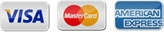 We accept Visa, Mastercard, American Express, credit cards