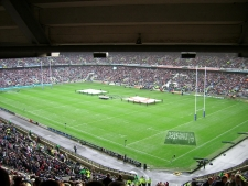 Twickenham for live rugby, or Wembley for football